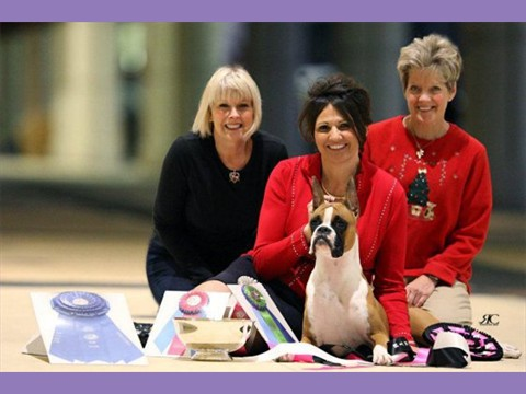 Millee & all 3 Moms at Eukanuba in Orlando
